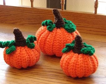 Crochet PDF Pattern For Pumpkin Decorations  *Instant Download*