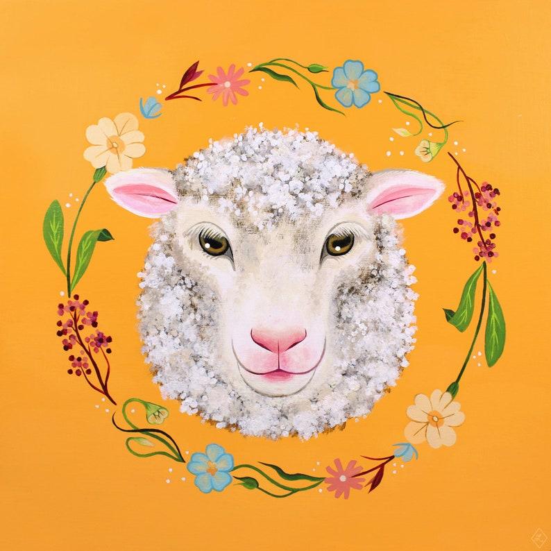 SHEEP PRINT  Sheep Art Sheep Illustration Animal Art Animal image 0