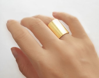 Adjustable circle ring,handmade ring,wide ring,rose gold ring,solid rose gold rings,cuff ring,gold ring,brushed gold