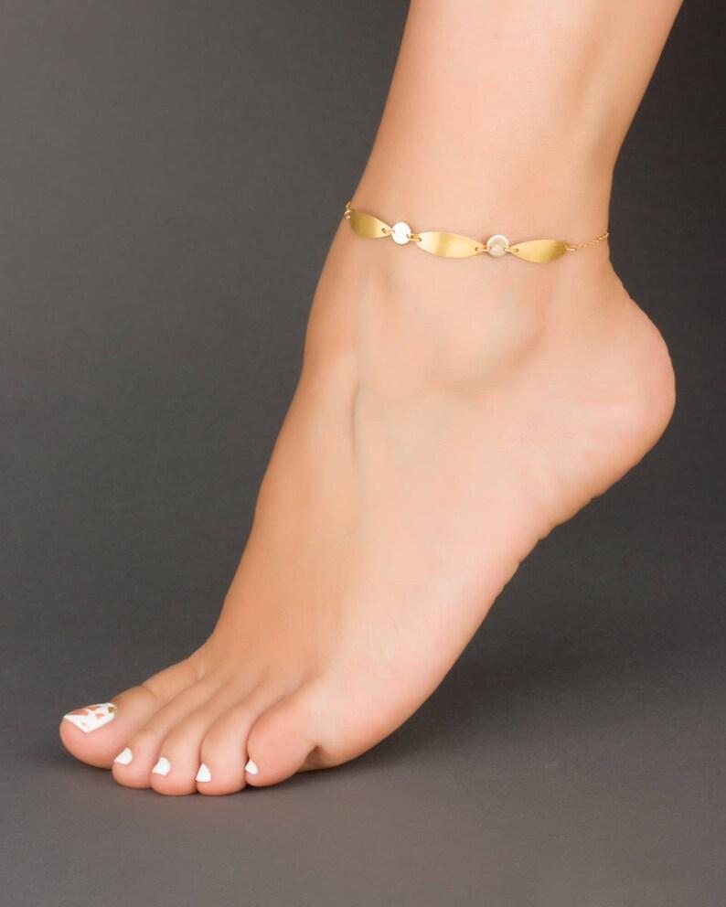 3daf32edc Gold Personalized Anklet Boho Ankle Bracelet Initial Ankle
