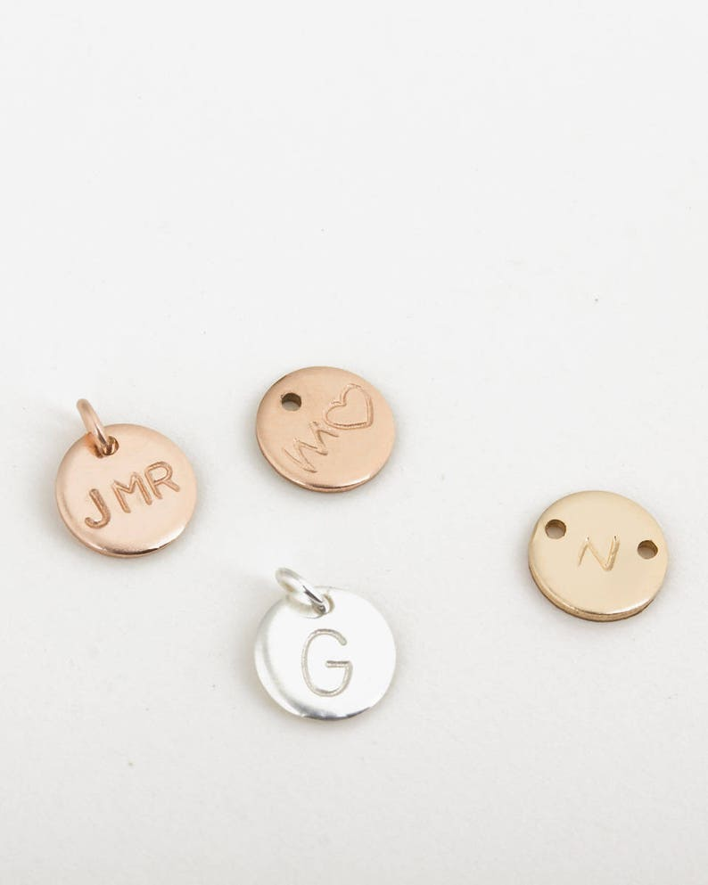 Personalize your necklace or bracelet by adding an initial image 0