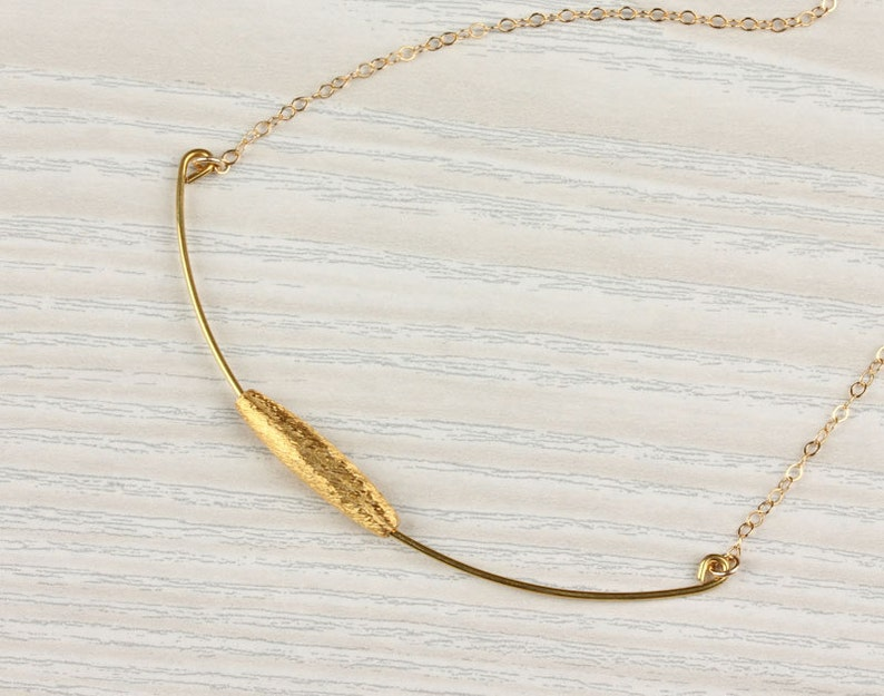 Bar necklace  14k gold filled necklace  Gold Bar necklace  Bridesmaid necklace Layered necklace Wedding jewelry Liriope