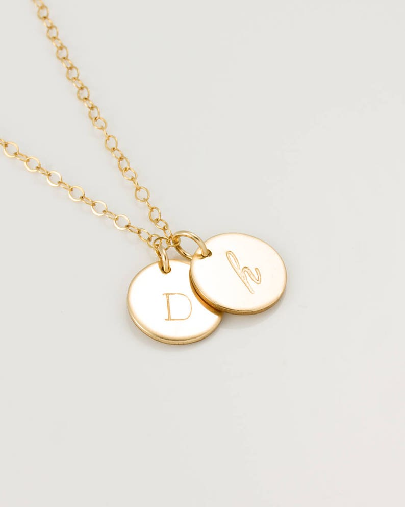 Personalized Disc Necklace  Personalized Engraved Necklace  image 0
