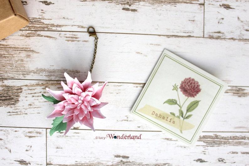 Fairyclips DAHLIA _ handmade paperflower charms image 0