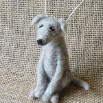 Custom Needle Pet Ornament, Wool Felt Dog, Personalized Pet Gift
