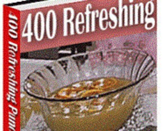 eBook - 400 Punch drink recipes - 447 page eBook - drinks ebook - punch recipes -  beverage recipes - party drinks - party beverage recipes