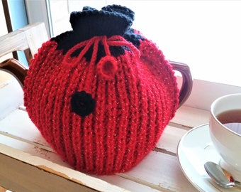 Knitted tea cozy - yarn teapot cover - knitted teapot cozy - handmade teapot warmer - teatime cozy - handmade knitted teapot cover/cozy