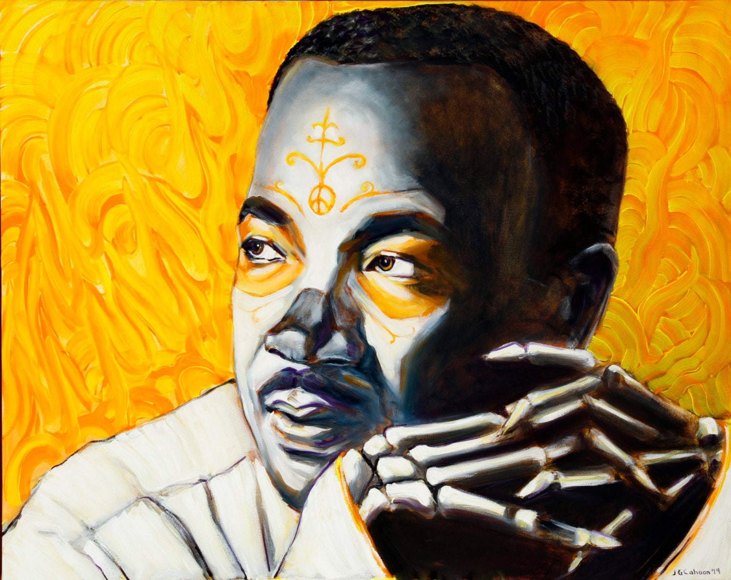 Martin Luther King Jr Day of the Dead 8x10   Etsy