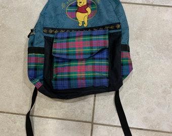 bfec7fb4c Vintage 90s Disney Winnie the Pooh Plaid Backpack