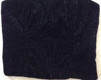 4c890cc7675ec 90 s Jessica McClintock Gunne Sax Black Velvet Boned Corset Top size 7.