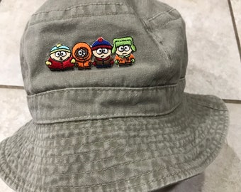 4f555d9df2bd5 Vintage 90 s South Park Bucket Fisherman Hat Cap streetwear
