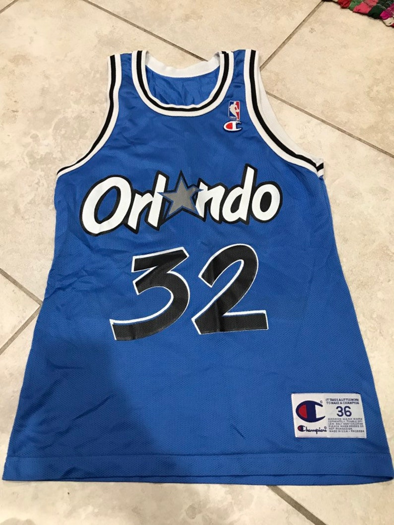 1bf2c2c51 Vintage 90s Champion Orlando Magic Shaquille O Neal 32