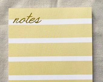 lemon stripe notepad