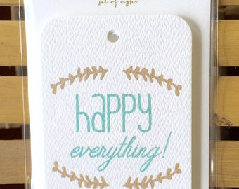 GT913 - happy everything gift tag - set of 8