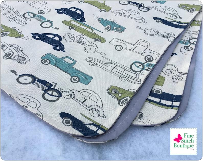 Felix Retro Rides RECEIVING BLANKET Cars Receiving Blanket Vintage Cars Receiving Blanket Made-To-Order Baby Boy Receiving Blanket