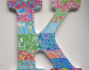 Set of 3 Lilly Pulitzer Inspired Letters