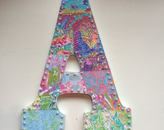 Set of 2 Lilly Pulitzer Inspired Letters