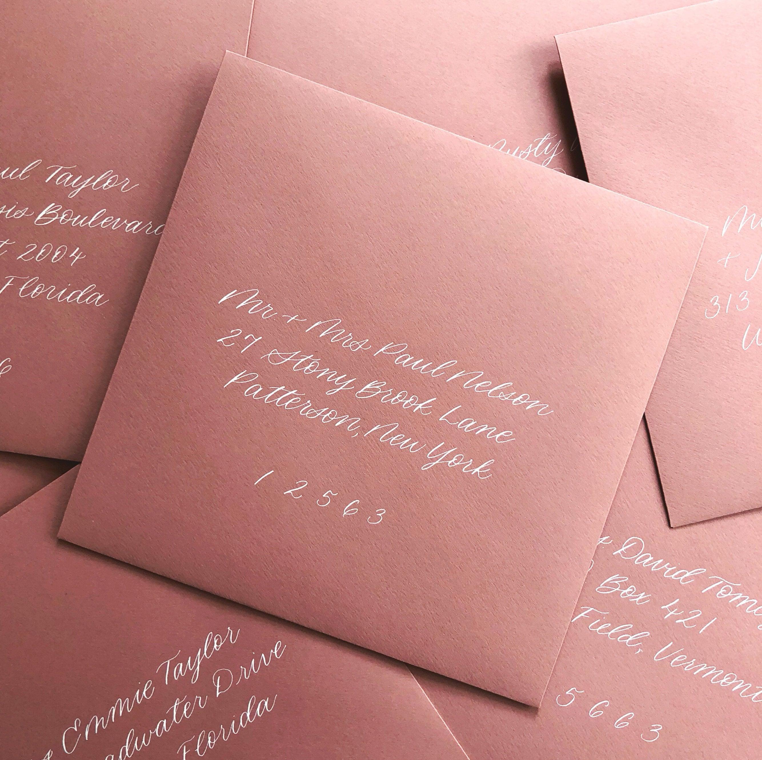 Calligraphy Addressed Envelopes Invitation Wedding Party   Etsy
