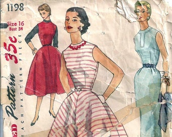 Free Shipping OOP Simplicity 1198 Misses One Piece Dress and Jumper with Two Skirts