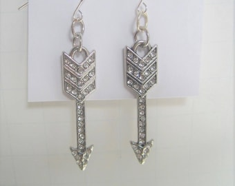 Hypo Allergenic Silver-Plated Fishhook Earrings New and Upcycled Costume Jewelry