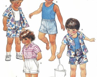 Free Shipping Easy McCall's Toddler Size 4 Pattern #2436 Toddlers' Shirt, Top and Shorts – Top For Stretch Knits Only