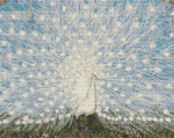 Peacock Cross Stitch, Peacock and Cockatoos, Counted Cross Stitch, Embroidery Kit, Art Cross Stitch, Jessie Arms Botke