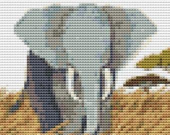 Elephant Cross Stitch Kit, Pride of Africa Cross Stitch, Embroidery Kit, Art Cross Stitch, Counted Cross Stitch