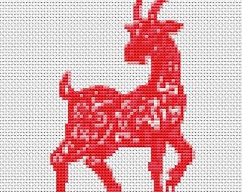 Goat Cross Stitch Kit, Year of the Goat Cross Stitch, Chinese Zodiac Cross Stitch, Embroidery Kit, Art Cross Stitch