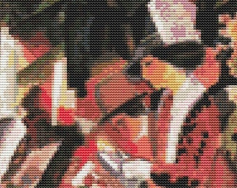 Abstract Cross Stitch Kit, Walk in Flowers by August Macke, Counted Cross Stitch, Embroidery Kit, Art Cross Stitch,