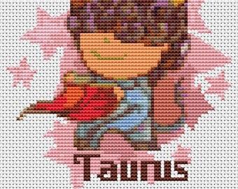 Taurus Cross Stitch Kit, Astrology Cross Stitch, Zodiac Cross Stitch, Embroidery Kit, Art Cross Stitch, Zodiac Series