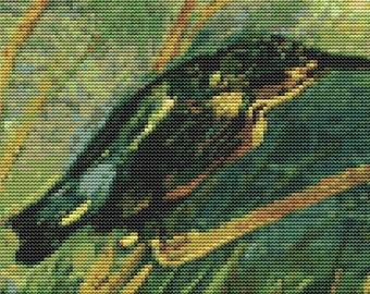 Vincent van Gogh Cross Stitch Kit, The Kingfisher Cross Stitch, Embroidery Kit, Art Cross Stitch, Counted Cross Stitch