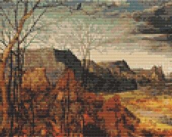 Scenery Cross Stitch Kit, The Return of the Herd, Counted Cross Stitch, Embroidery Kit, Art Cross Stitch, Pieter Bruegel
