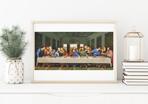 da Vinci Big Counted Cross Stitch Pattern Embroidery Chart PDF The Last Supper