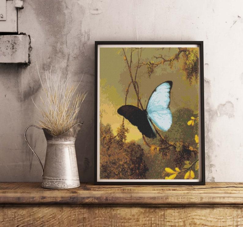 AMETHYST WOODSTAR HUMMINGBIRD BIRD BUTTERFLY FLOWERS MARTIN JOHNSON HEADE REPRO