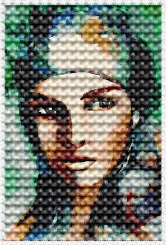 10 x 15 inches Abstract Cross Stitch Gypsy Woman Cross Stitch Kit