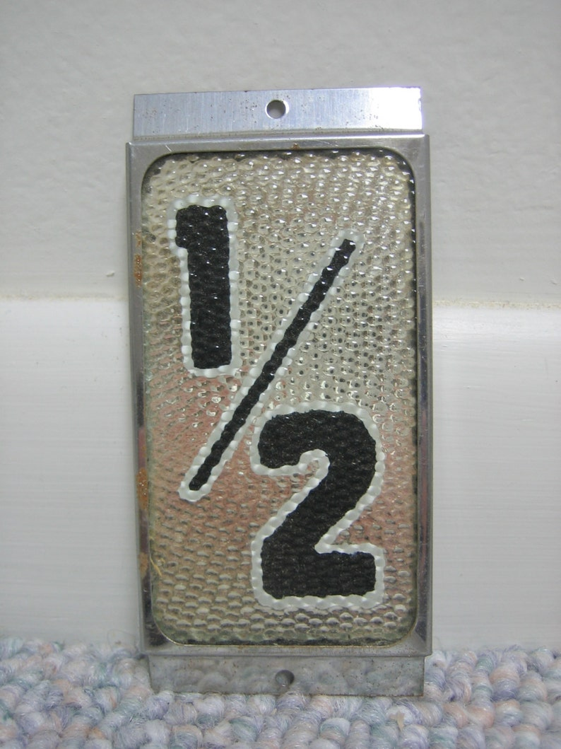 House Numbers With Half Number