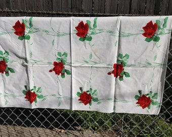 Beautiful Vintage Wilendur Wilendure Red Roses