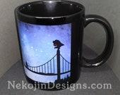 Mothman Mug - cryptid cryptozoology folklore coffee ceramic tea cup cryptozoologist gift creature feature monster myth legend West Virginia