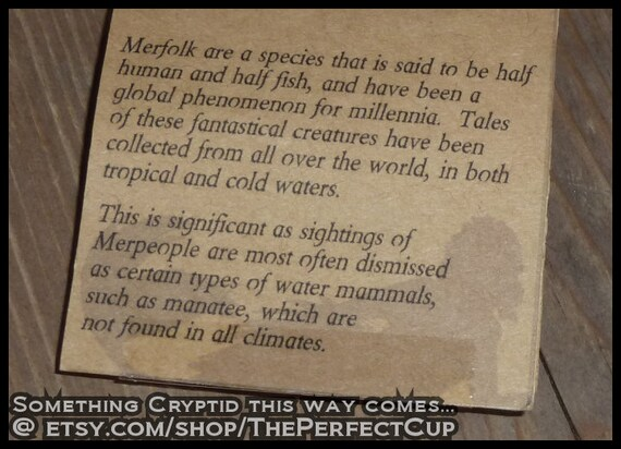 Merfolk Pin - cryptid cryptozoology cryptozoological button badge  unexplained creature Fiji Feegee mermaid merman fantasy ocean sea