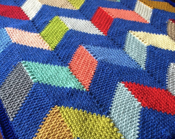 CHEVRON BLANKET CROCHET/Baby blanket pattern/popular crochet baby/geometric crochet blanket/geometric blanket, unique fun modern linen