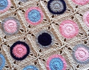 Pattern - BabyLove Brand Gumball Blanket - Crochet Pattern/Tutorial - kids toddler baby adult - rectangle throw