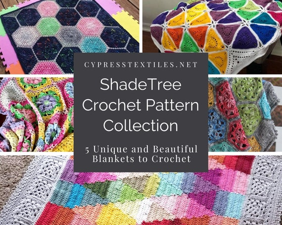 CROCHET PATTERN EBOOK/ShadeTree Ebook Issue 1/crochet blanket pattern/crochet pattern/crochet afghan/modern texture unique throw tutorial