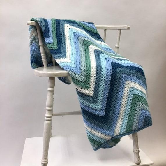 DEEP CHEVRON crochet pattern/striped blanket/crochet afghan/crochet blanket baby gift/crochet blanket pattern/baby blanket pattern