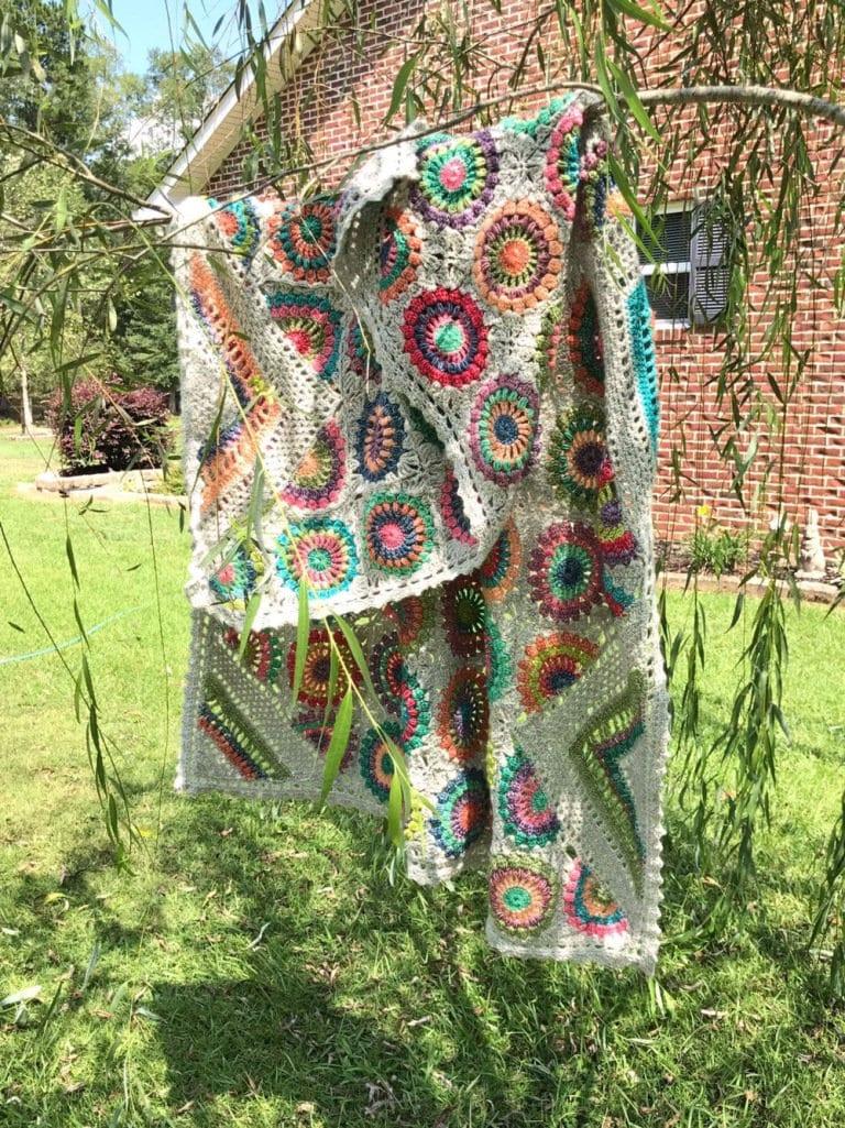 Easy Crochet Pattern Crochet Blanketgranny Squarecrochet Afghan