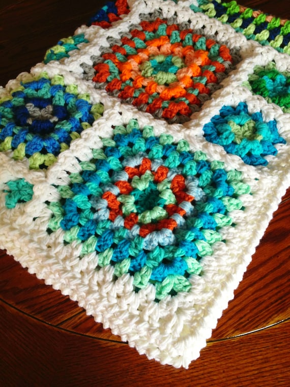 CROCHET BLANKET PATTERN/popular crochet/baby blanket/crochet baby/babyLove Brand/Gelato/granny square unique fun traditional join as you go