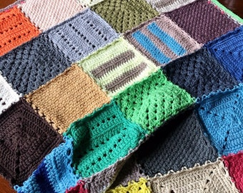 GRANNY SQUARE BLANKET crochet pattern/striped blanket/crochet afghan/crochet blanket baby gift/crochet blanket pattern/baby blanket pattern