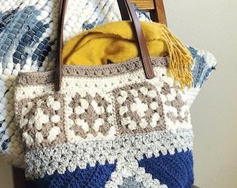 EASY CROCHET BAG Pattern The Learner Bag / Granny square/crochet purse/crochet purse mothers day/crochet christmas gift / gift for her
