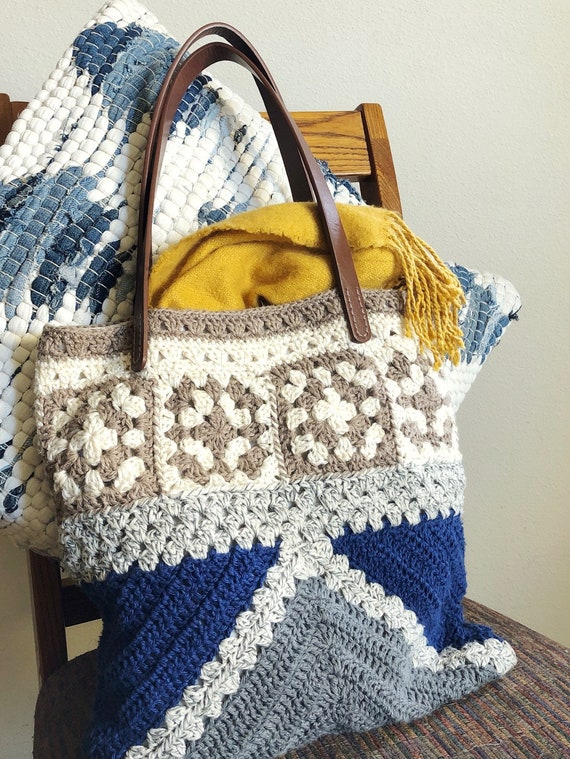 EASY CROCHET BAG Pattern The Learner Bag / Granny square/crochet purse/crochet purse mothers day/crochet christmas gift / gift for her