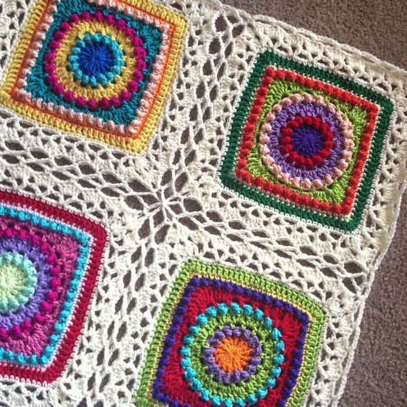 CELTIC LACE JOIN patterns/crochet blanket joining method/crochet blanket/join granny squares/easy crochet pattern/3 joins in one