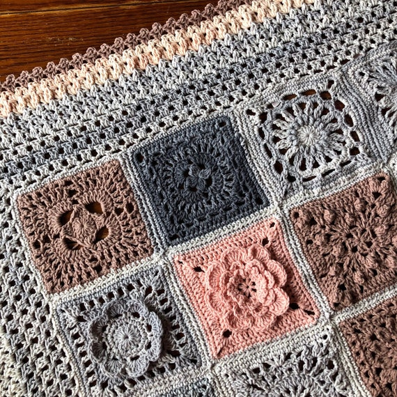 CROCHET BLANKET patterns/crochet baby blanket/wedding gift/crochet blanket/crochet granny square/easy crochet pattern/easy blanket pattern